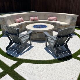 Fire Pit with Turf Surround